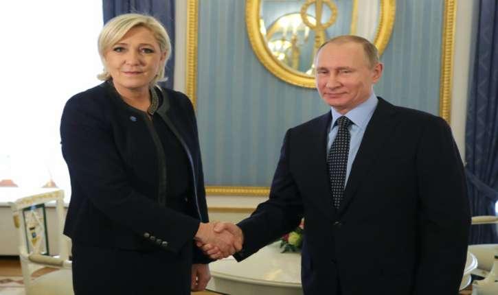 Poutine a reçu la dirigeante du Front National, Marine Le Pen