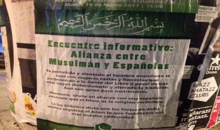 Espagne : à Barcelone des affiches appellent les musulmans à se marier avec des chrétiennes et des juives pour répandre l'islam !