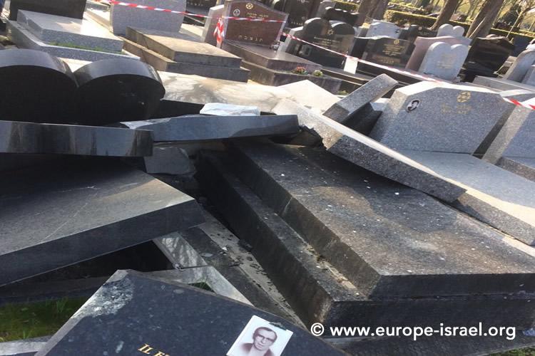 [Vidéo et photos] Tombes juives détruites à Pantin : la thèse de l'accident peu crédible. Une enquête est ouverte