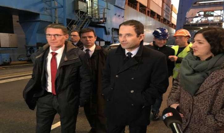 Le Havre : Hamon en meeting devant une salle vide aux deux tiers