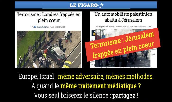 « Attentat » et « terroriste » : ces mots que Le Figaro refuse d'utiliser dès qu'il s'agit d'Israël