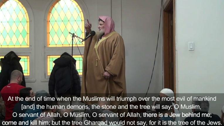 [Vidéo] Montréal : un imam appelle au meurtre des Juifs citant un hadith «Ô musulman, ô serviteur d'Allah, il y a un Juif qui se tient derrière moi, viens et tue-le»