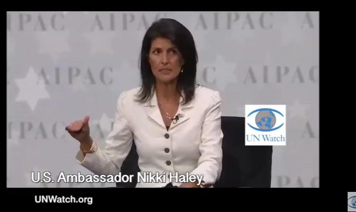 (Video) Nikki Haley, l'incroyable nouvelle ambassadrice des États-Unis à l'ONU : «dénigrer Israël, c'est terminé»
