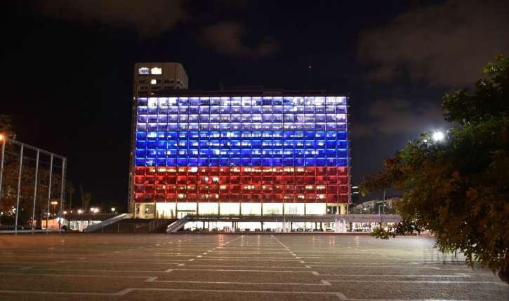 Tel Aviv, l'unique ville à s'illuminer aux couleurs de la Russie