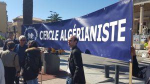 Les manifestants du Cercle algérianiste