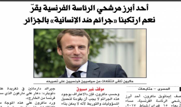 Capture du2019écran Macron – Al-Qaïda
