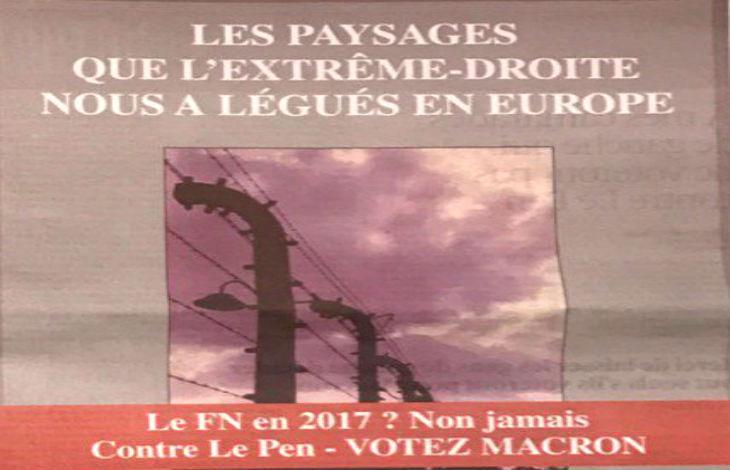 Contre le FN, les Klarsfeld évoquent le souvenir d'Auschwitz dans une affiche publiée dans Libération