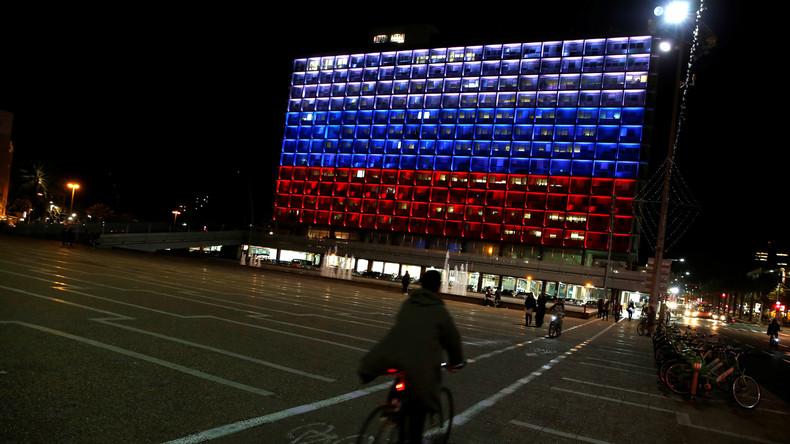 Tel-Aviv illuminée aux couleurs de la Russie en hommage aux victimes de Saint-Pétersbourg, mais pas Berlin ni Paris