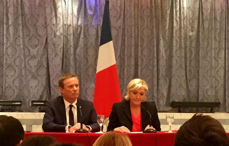 Marine Le Pen et Dupont-Aignant