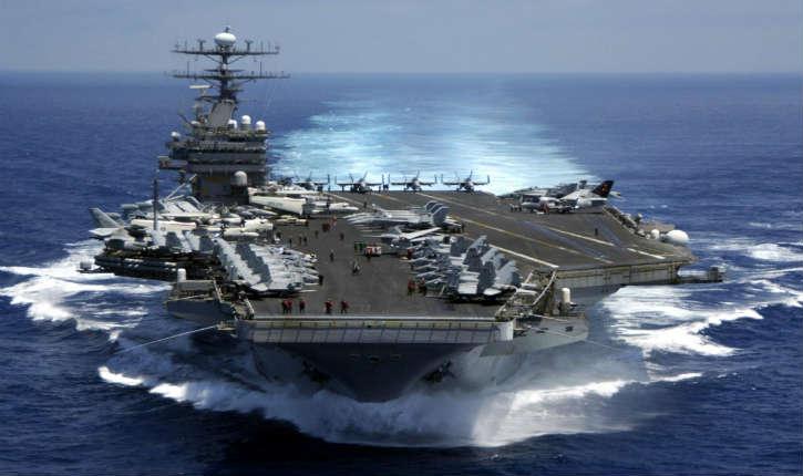 La cor e du nord menace de couler le porte avions am ricain carl vinson d 39 une seule frappe - Liste des porte avions americains ...