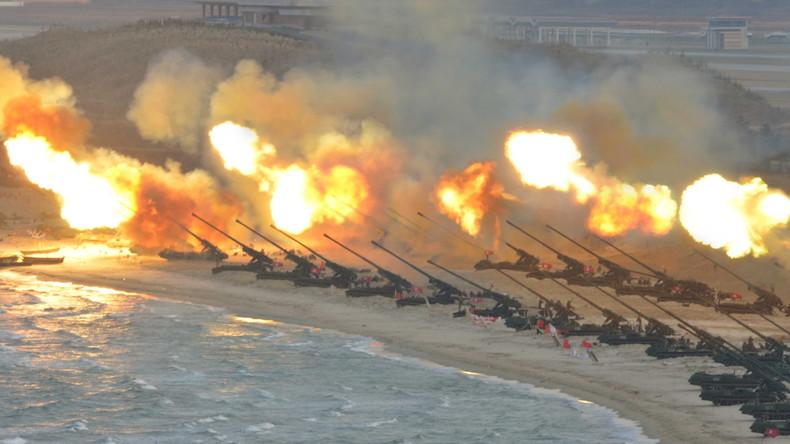 La Corée du Nord a mené des exercices de tir «de grande envergure»