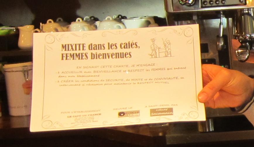 Un label pour la mixité dans les cafés de Saint-Denis !