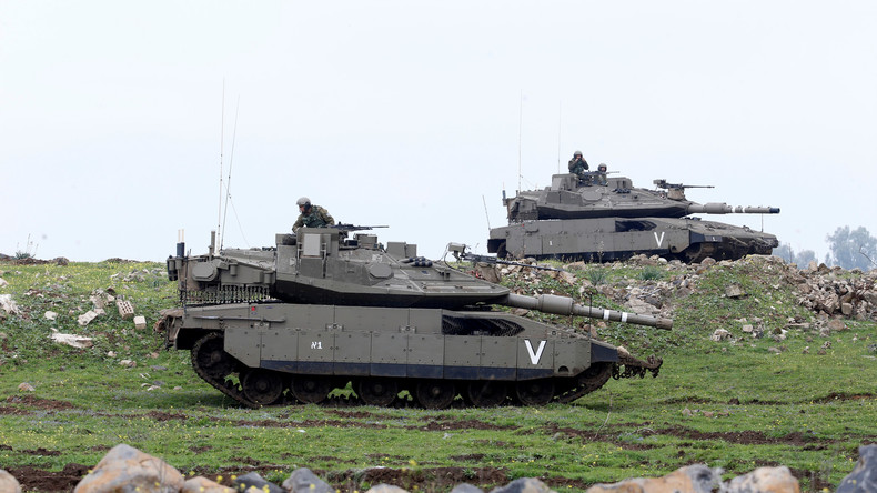 chars israéliens Golan