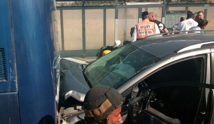 Gush Etzion: Attentat à la voiture bélier (1 blessé)