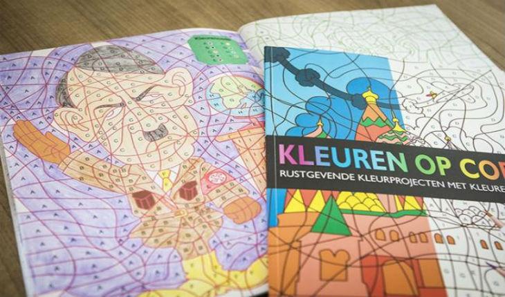 Hitler dans un livre de coloriage pour enfants aux Pays-Bas