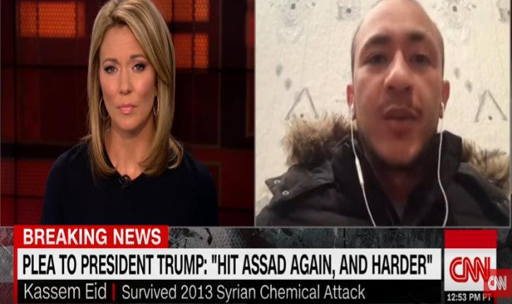 (Vidéo) Un syrien survivant d'une attaque chimique remercie l'intervention militaire de Trump et fustige la politique d'inaction d'Obama