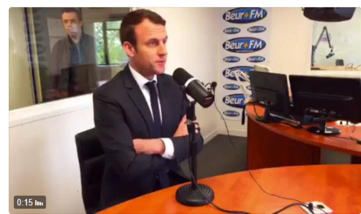 (Vidéo) Sur Beur FM, Macron se croyant hors antenne confie que son référent , Mohamed Saou est radical mais que «c'est un type bien»