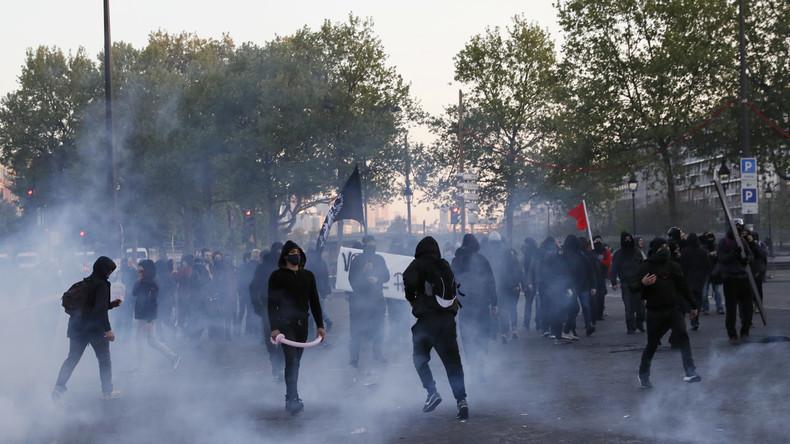 La manifestation «Ni Le Pen, ni Macron : ni patrie, ni patron» dégénère à Paris (Vidéo)