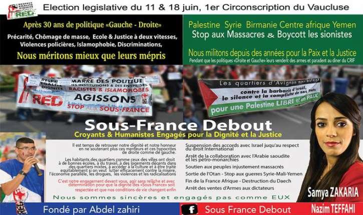 «Sous-France Debout» : Le Parti anti-France «islamophobe», antisémite et contre les «violences policières», aux législatives!