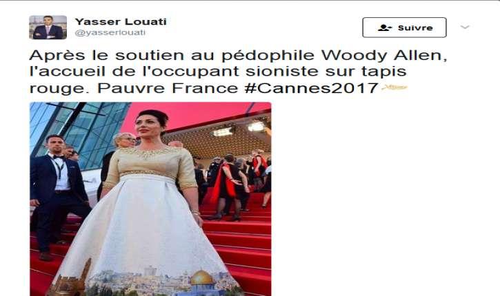 L'islamiste, ex porte-parole du CCIF Yasser Louati n'aime pas la robe de Miri Regev