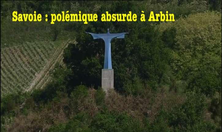Savoie : une statue du Christ sur un terrain privé déclenche une polémique!