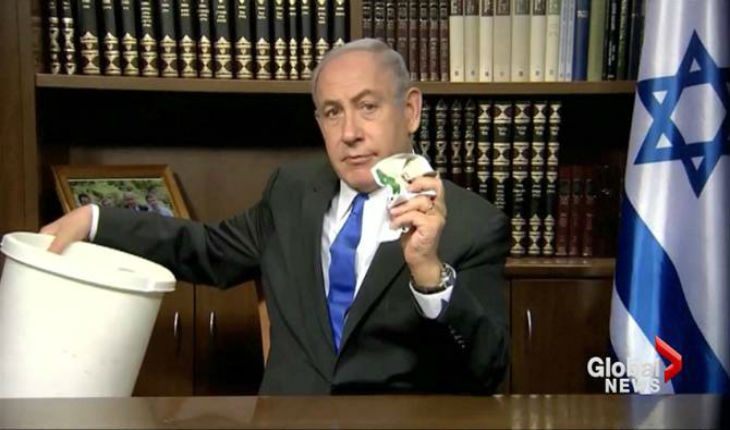 Netanyahu ne mord pas à l'hameçon et déchire la charte du Hamas; un comportement raciste, selon Abou Zouhri