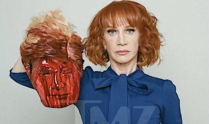 (Vidéo ) comme l'État islamique, une actrice américaine pose avec une réplique de la tête décapitée de Donald Trump