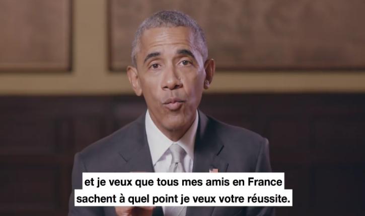 [vidéo] Barack Obama apporte son soutien à Emmanuel Macron