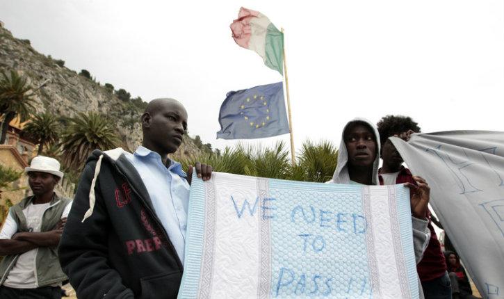 Italie : des migrants franchissent un fleuve et tentent de passer la frontière française