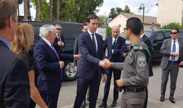 Jared Kushner en visite officielle en Israël est allé visiter la famille de la soldate israélienne Hadas Malka pour lui présenter ses condoléances