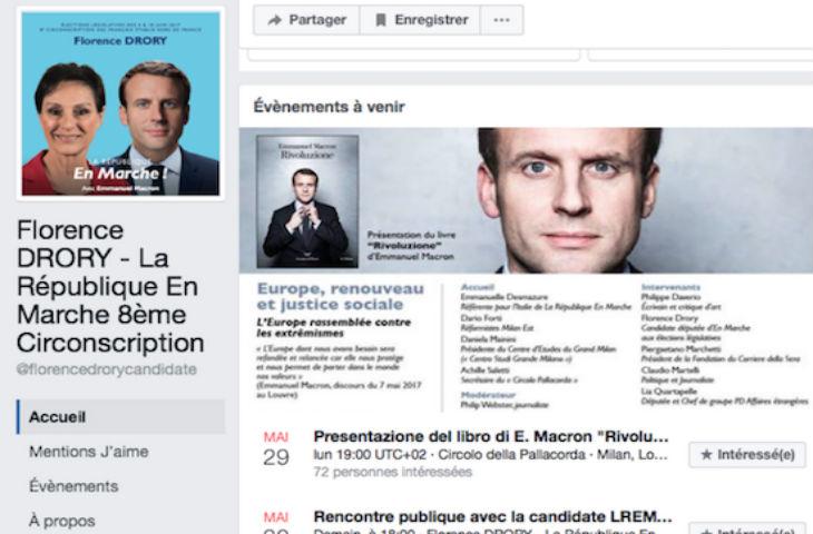 La candidate «République En Marche» dans la 8ème circ. des Français de l'étranger, Florence Drory, soutenue illégalement par un établissement public…