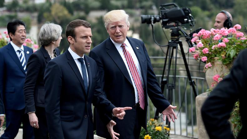 Trump et Macron prêts à travailler à une «réponse commune» en cas d'attaque chimique en Syrie