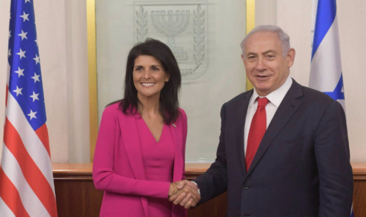 Netanyahu demande à Nikki Haley de «démanteler l'organisation anti-israélienne UNRWA «