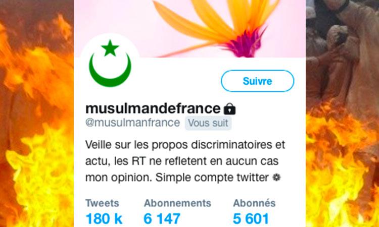 L'association des musulmans de France se réjouit de la mort de Hadas Malka sur twitter