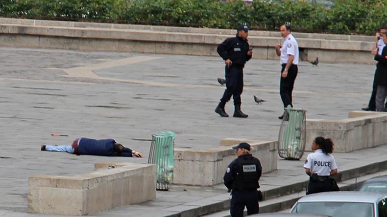 Attaque à Notre-Dame : une vidéo montre l'islamiste se précipiter sur le policier avant d'être neutralisé