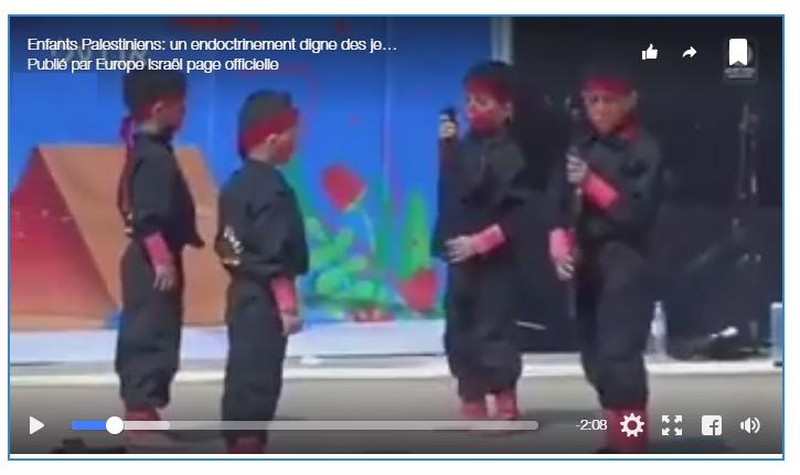 [vidéo] «Les enfants palestiniens subissent un lavage de cerveau» révèle une nouvelle vidéo