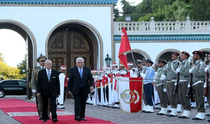 Visite d'Abbas: sans vergogne la Tunisie félicite le harcèlement politique palestinien contre Israël