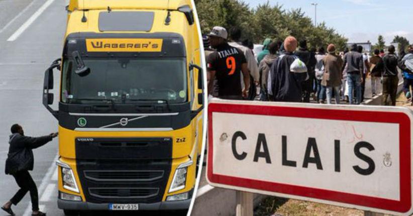 Calais : une horde de migrants agressent un camionneur britannique et lui volent son véhicule