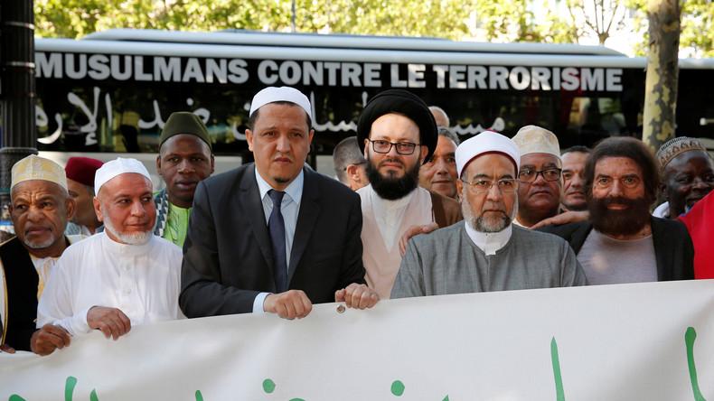 L'imam Chalghoumi bien seul dans sa marche des musulmans contre le terrorisme à Bruxelles