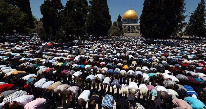 Tandis que les gauchistes et les médias adulent les Palestiniens, ceux-ci prient à la mosquée pour le massacre des Européens