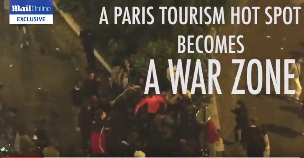 [Vidéo] Une foule de racailles attaque une femme touriste dans la banlieue de Paris