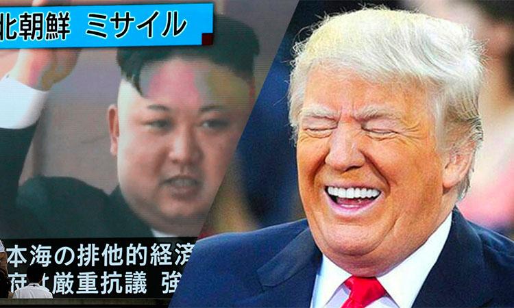 Missile tiré de Corée du Nord:  «ce gars là n'a rien d'autre à faire de sa vie?» lance alors Trump en parlant du dictateur