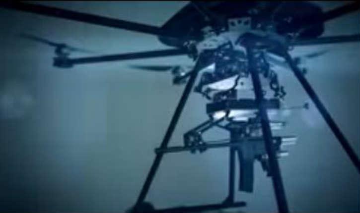 [Vidéo] Tikad «le soldat du futur», un drone capable d'activer un fusil mitrailleur ou un lance grenade