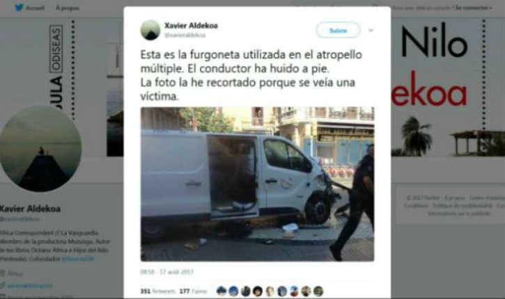 Attaque terroriste à Barcelone : Au moins 13 morts. La fourgonnette réalisait des zigzag pour atteindre un maximum de piétons