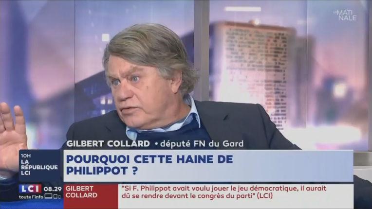 Gilbert Collard évoque «les blaireaux qui ont appelé à voter Macron et viennent maintenant manifester contre lui»