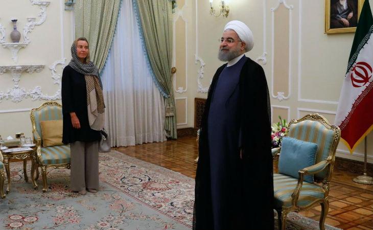 Quand les féministes s'allient aux terroristes islamistes : Quand Mogherini sourit sous son hijab en Iran, elle poignarde dans le dos les femmes qui luttent