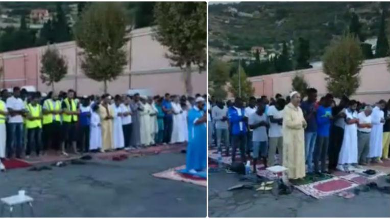 Vintimille, Italie : les migrants organisent une prière musulmane devant le cimetière catholique (Vidéo)