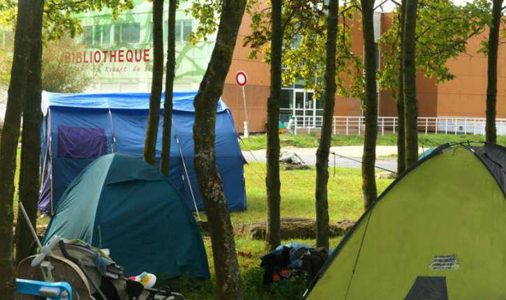 Reims : les cours ont été suspendus en raison de la présence de migrants sur le campus