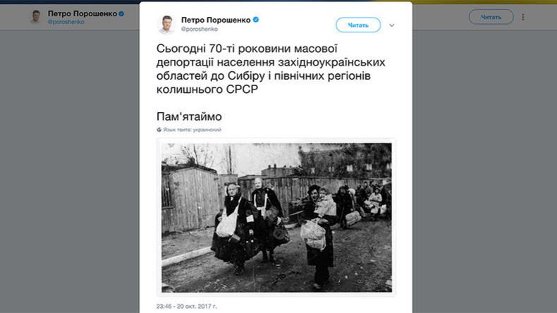 Le président ukrainien utilise des images de Juifs déportés pour faire croire que ce sont des Ukrainiens envoyés en Sibérie
