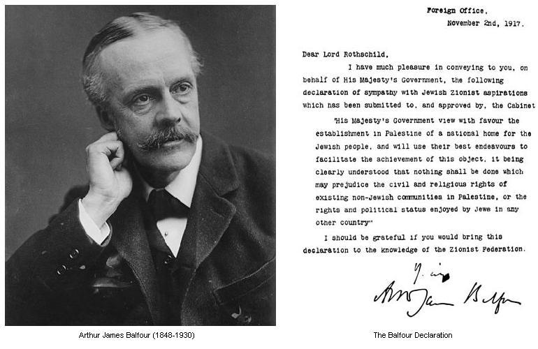 Anniversaire : 100 ans de la Déclaration Balfour
